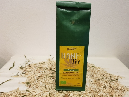 Mr. Feelgood Hanftee Natur  Bio Hanfblätter, 40g
