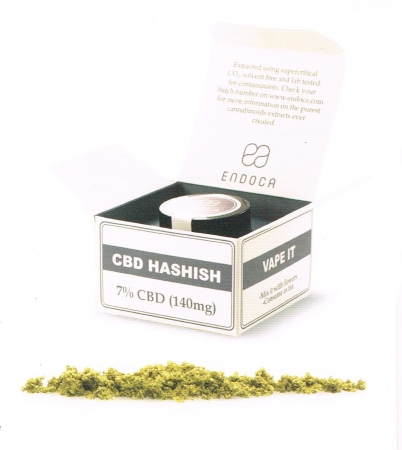 CBD Hashish,  7% CBD Endoca