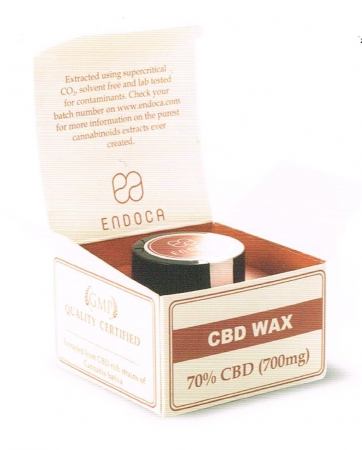 CBD Wax,  70% CBD Endoca