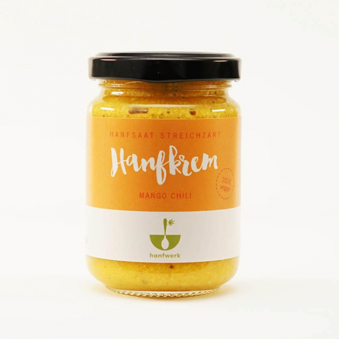 Hanfkrem Mango Chili, 145 g, 100% Vegan in Bioqualität